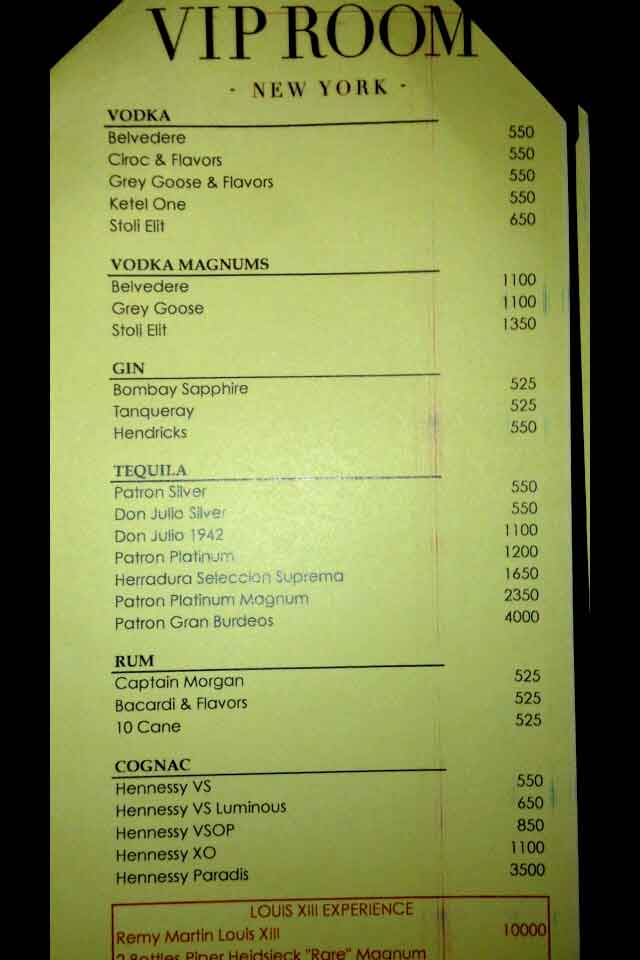 VIP_Room_Prices
